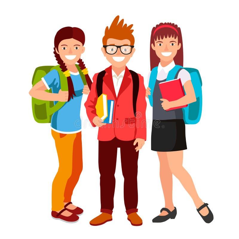 Download 有背包和书的学生 向量例证. 插画 包括有 人员, 子项, 凉鞋, 学校, brunhilda, 女孩, 礼服 - 72350937