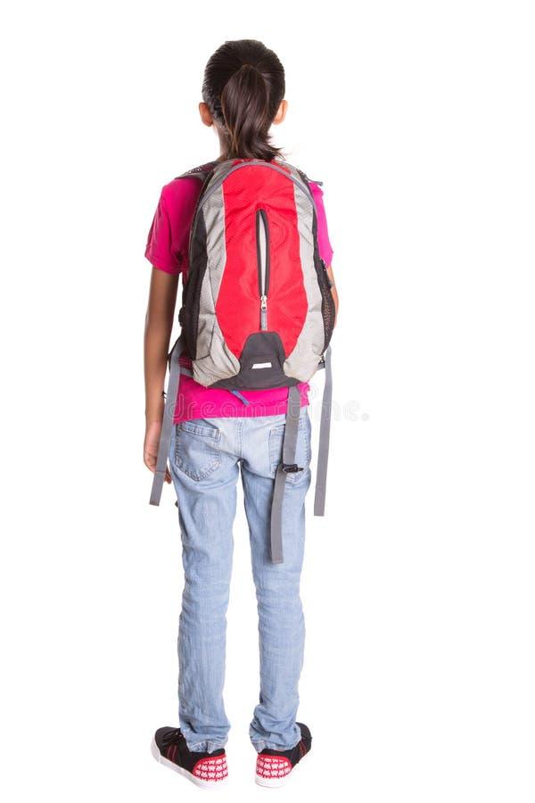 有背包的II女孩 库存图片