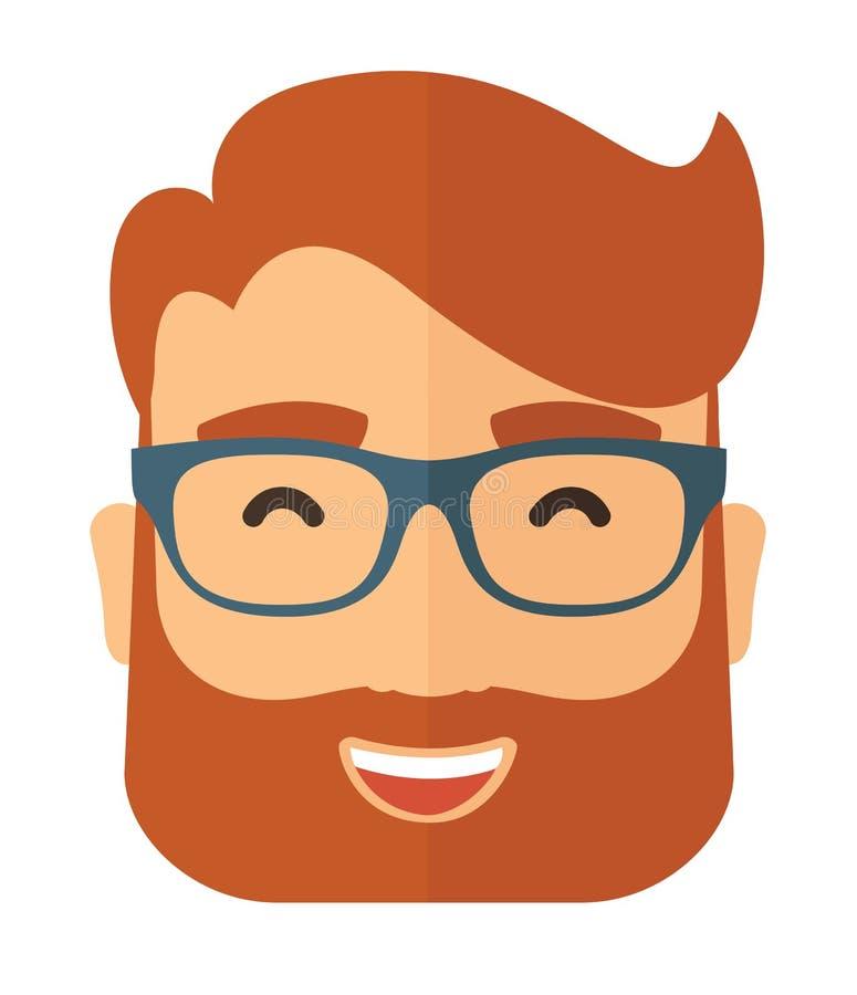有胡子具体化的行家 向量例证
