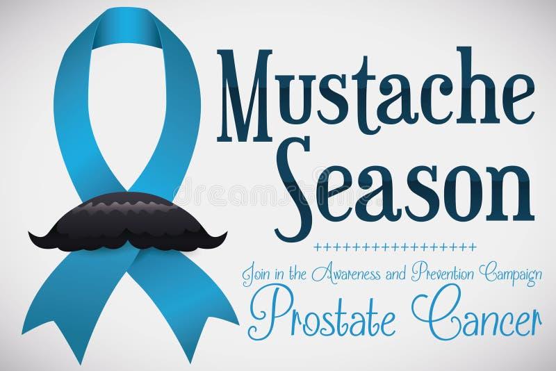 有胡子最高荣誉在前列腺癌了悟季节,传染媒介例证 向量例证