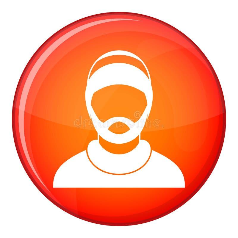 有胡子的人具体化象,平的样式 皇族释放例证