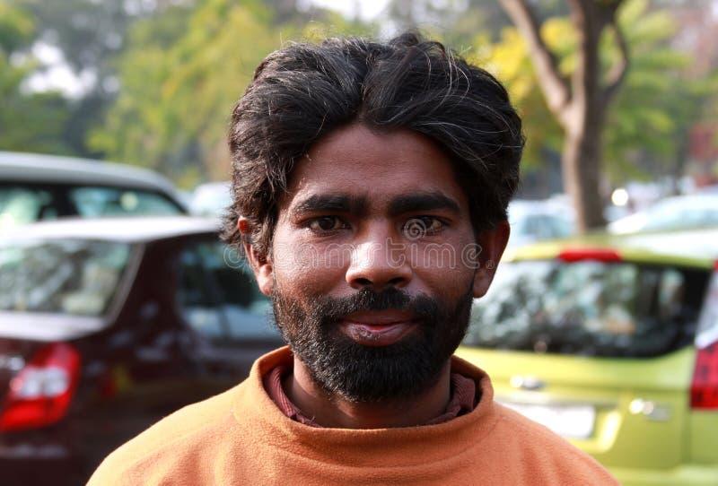 有胡子的人纵向 库存照片