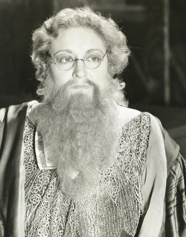 有胡子的夫人 库存图片