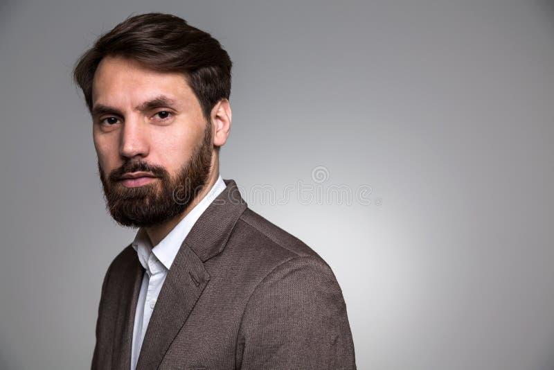 有胡子的生意人 免版税库存照片