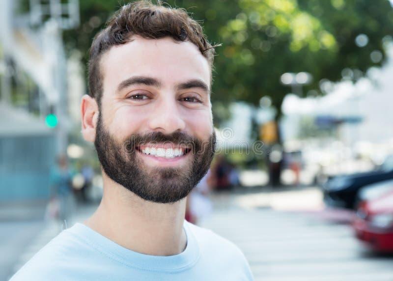 有胡子的英俊的白种人人 库存照片
