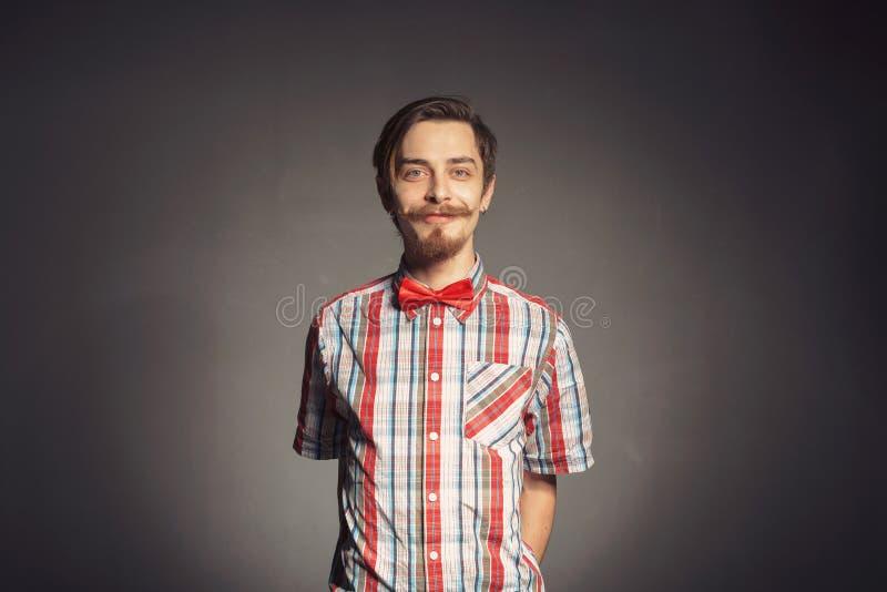 有胡子的行家画象  免版税库存图片