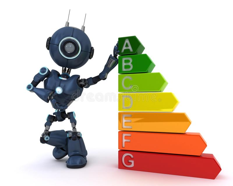 有能量规定值的机器人 向量例证