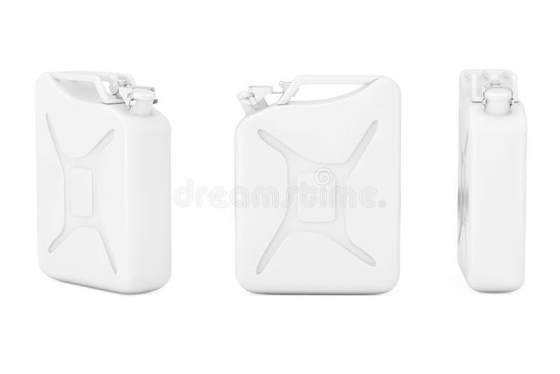 有自由空间的白合金五加仑装之汽油罐你的设计 3d回报 皇族释放例证