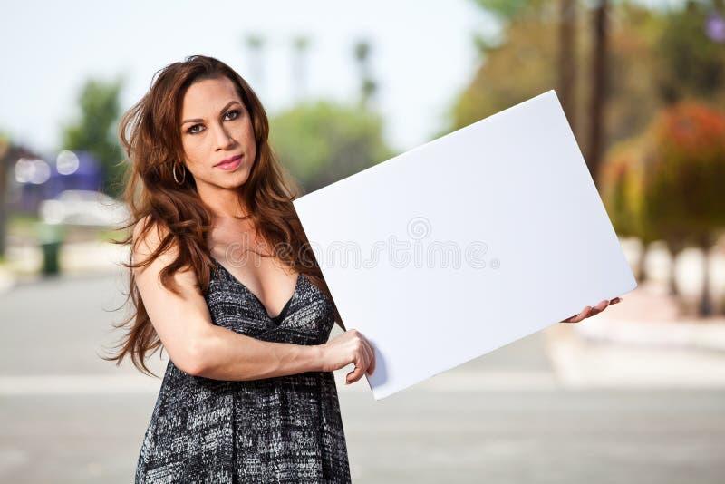 有自豪感旗子的变性女性 库存照片