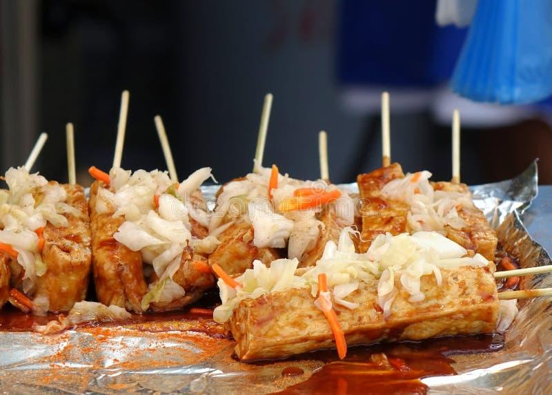 有臭味的被发酵的豆腐用泡菜 免版税库存图片