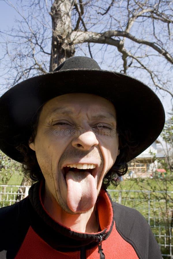 有舌头的人 免版税图库摄影