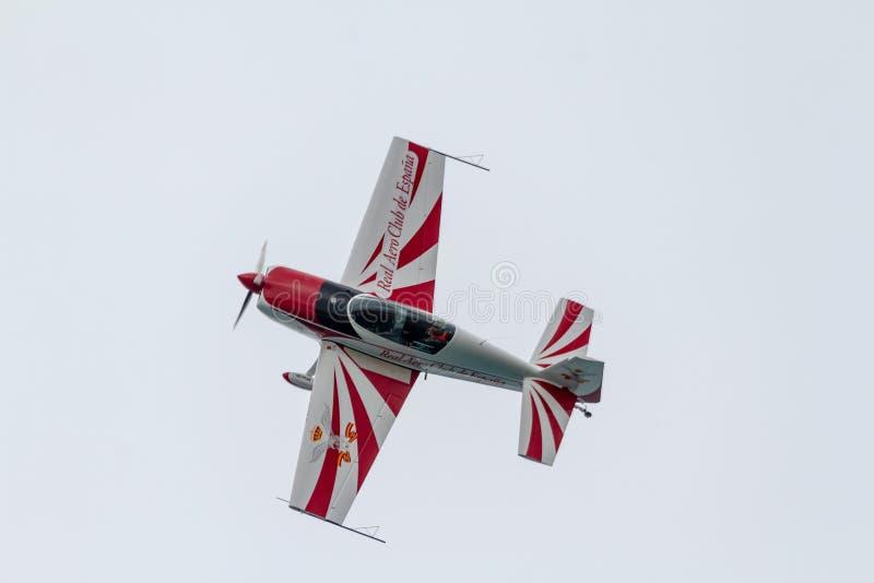 有航空器的额外EA-200豪尔赫Macias 免版税库存图片
