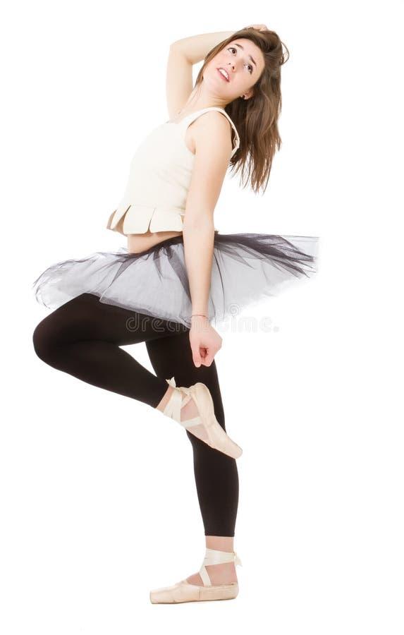 有芭蕾舞短裙的舞蹈家 库存图片
