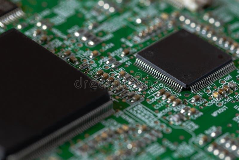 有芯片的电路板 免版税库存照片
