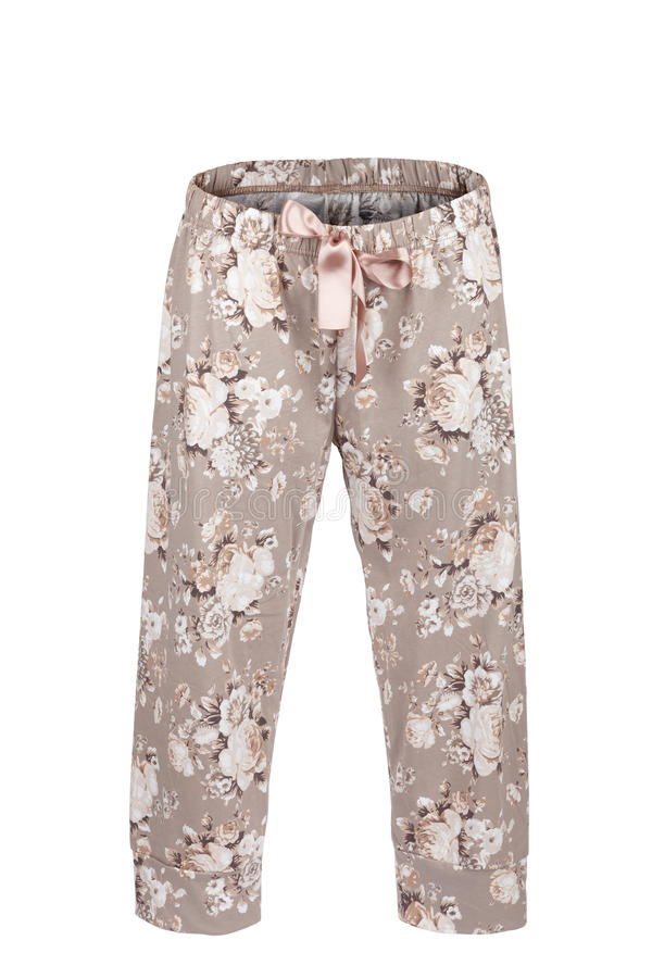 有花卉图案的裤子 免版税图库摄影