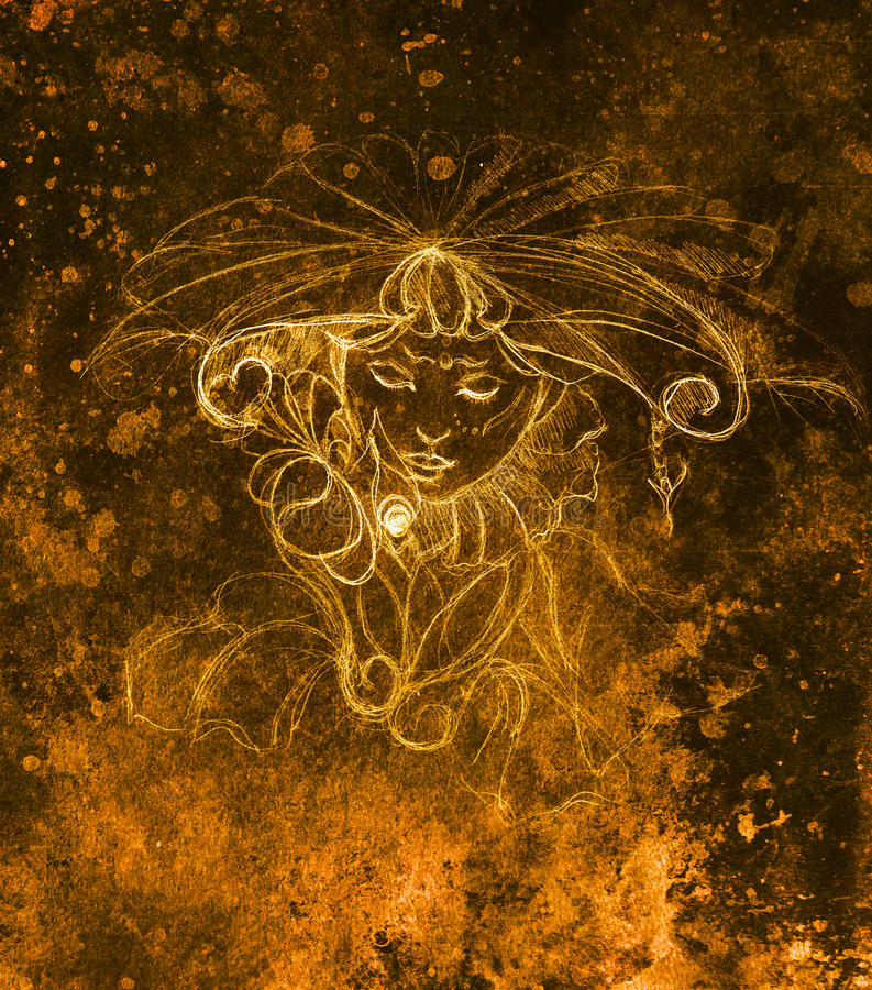 Download 有花的神秘的妇女 在纸,颜色作用的铅笔图 库存例证. 插画 包括有 设计, 要素, 印度尼西亚, 装饰, 衣物 - 72351533