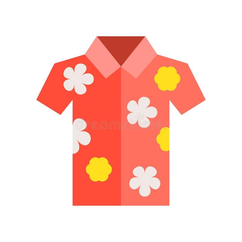 有花纹花样的夏威夷衬衣,五颜六色的夏天关连 向量例证