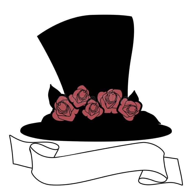 有英国兰开斯特家族族徽和横幅文本的帽子 r 向量例证