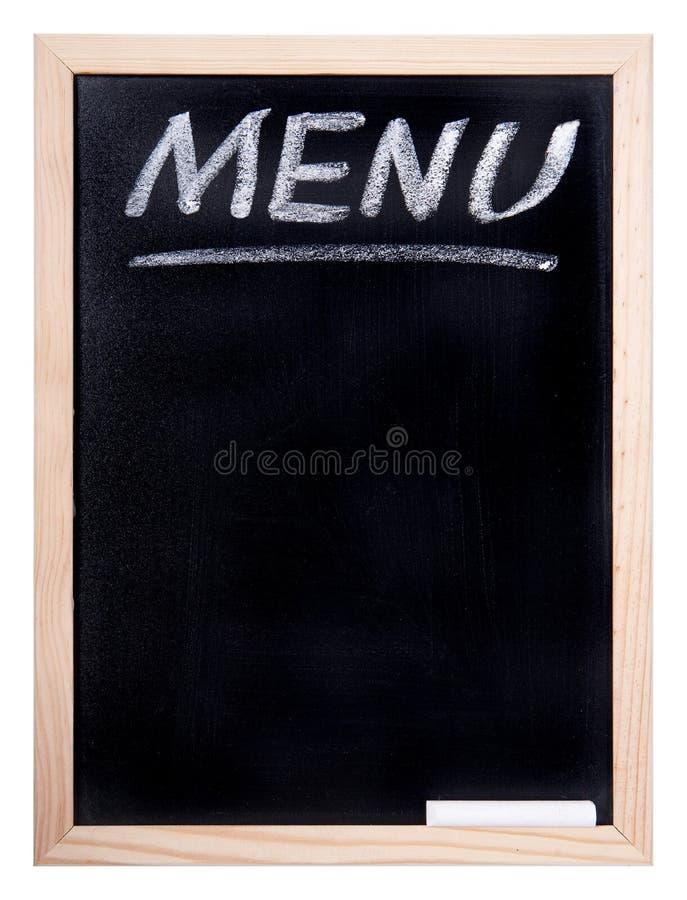 有菜单的题字的黑板 库存图片