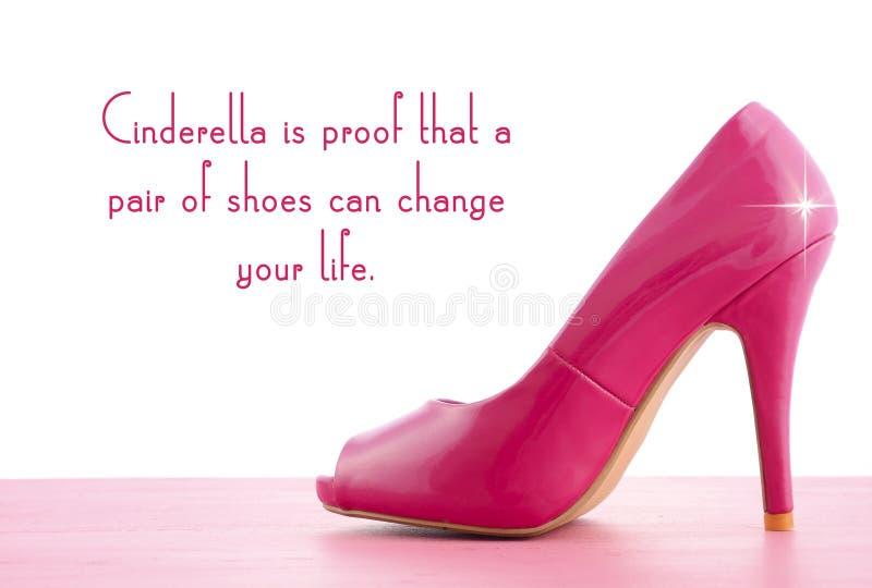 有著名行情的高跟鞋鞋子 免版税库存照片