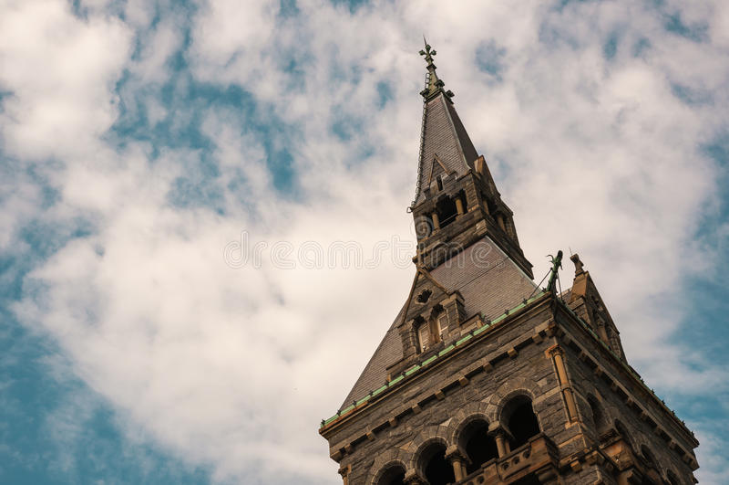 有蓝天的乔治城大学 图库摄影