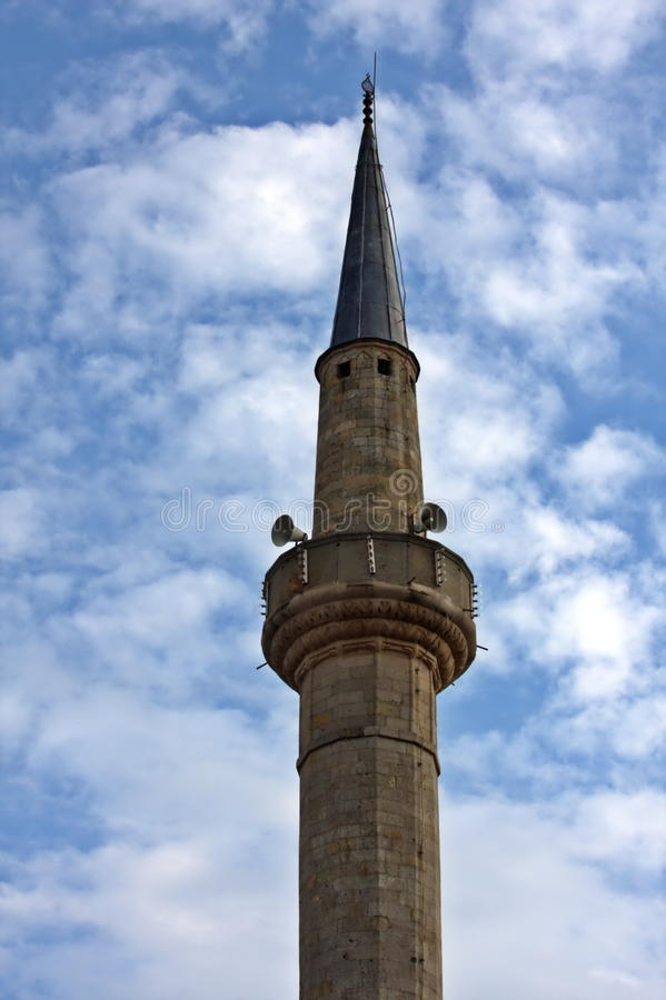 有蓝天的尖塔 库存照片