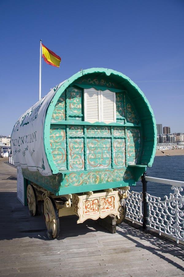 有蓬卡车吉普赛人 免版税库存图片