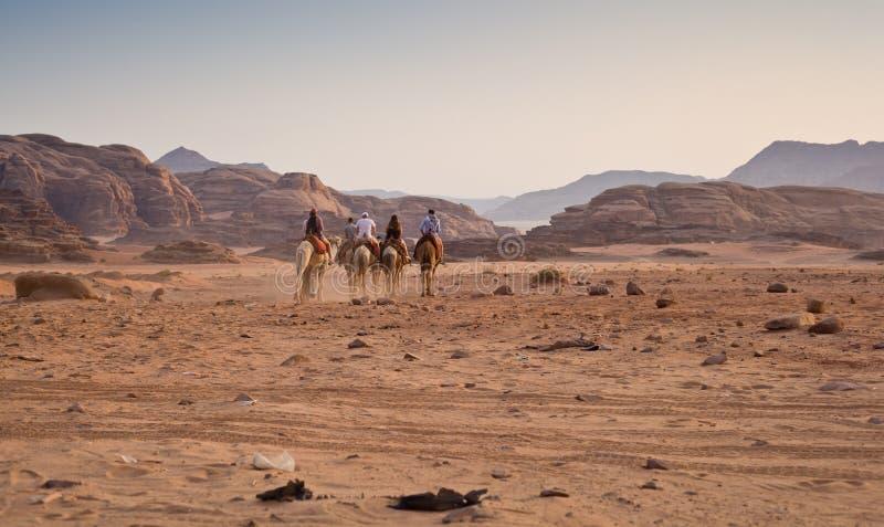 有蓬卡车在沙漠 免版税库存照片