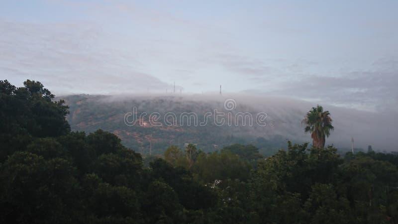 有薄雾的天空 图库摄影
