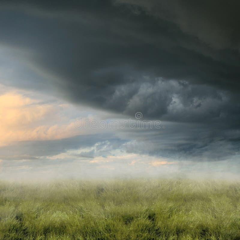 有薄雾的横向 库存图片