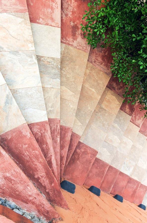 有螺旋楼梯的边路灯笼 库存图片