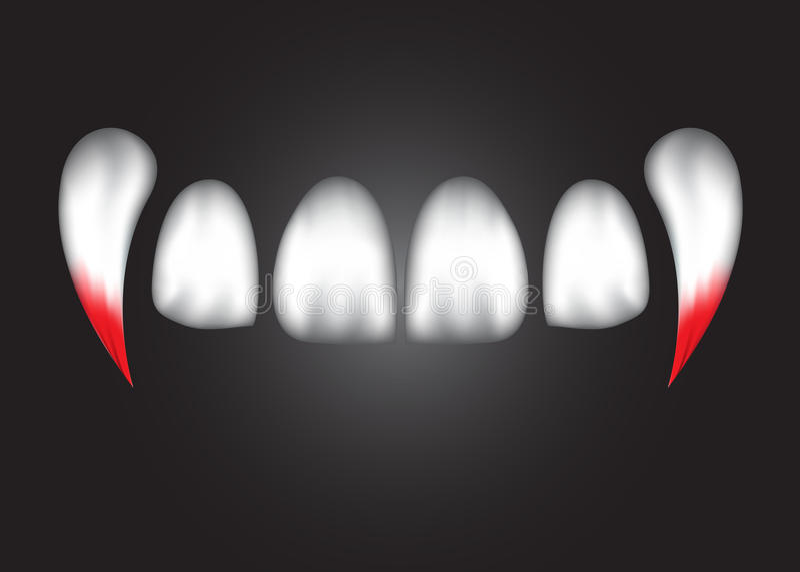有血液的, eps 10抽象吸血鬼牙 向量例证