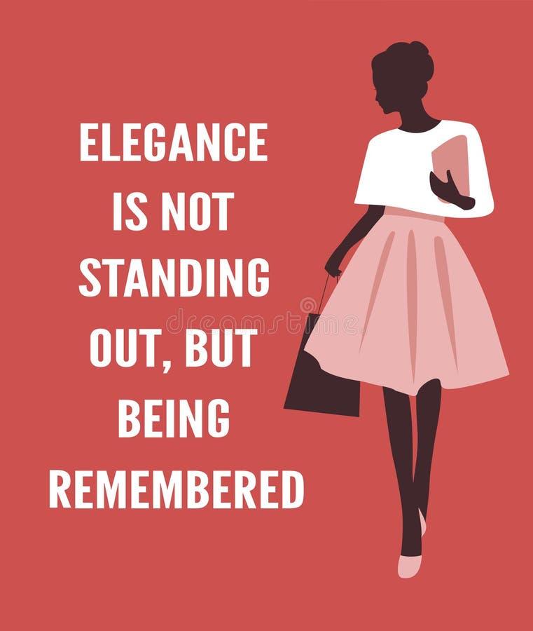 有行情的时尚妇女 向量例证