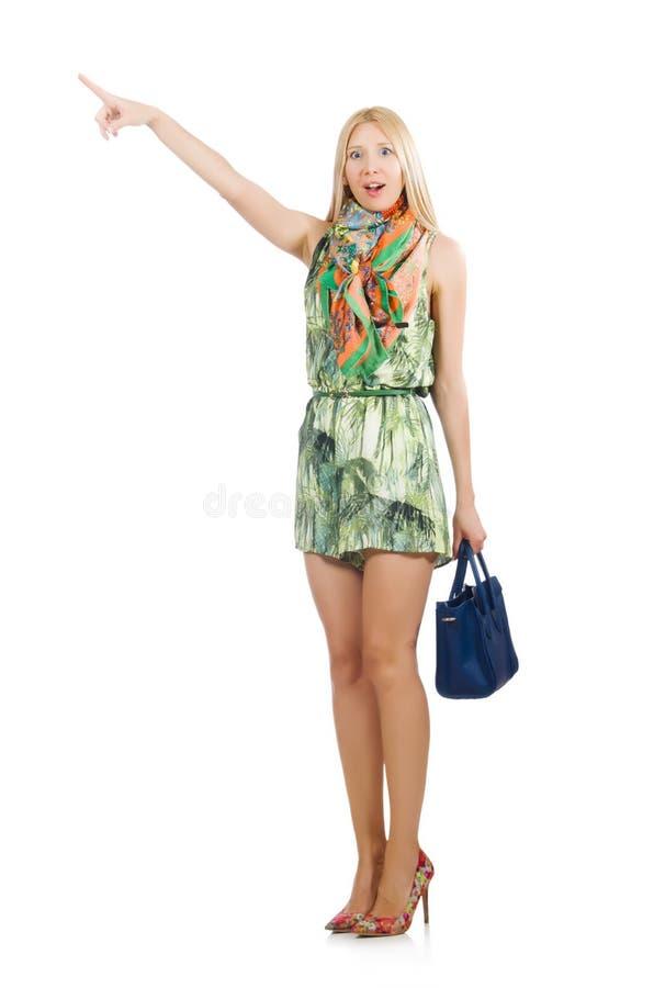 有袋子的妇女 库存照片