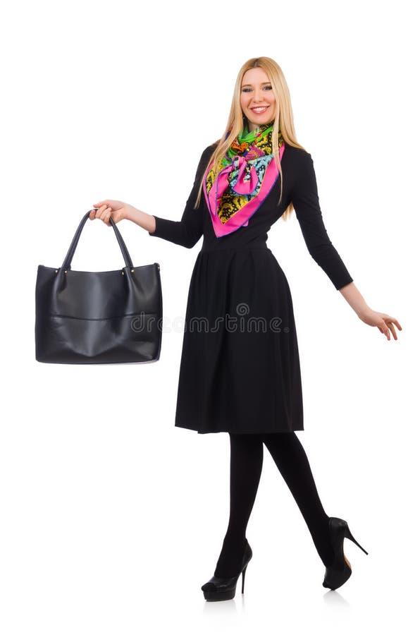 有袋子的妇女 图库摄影