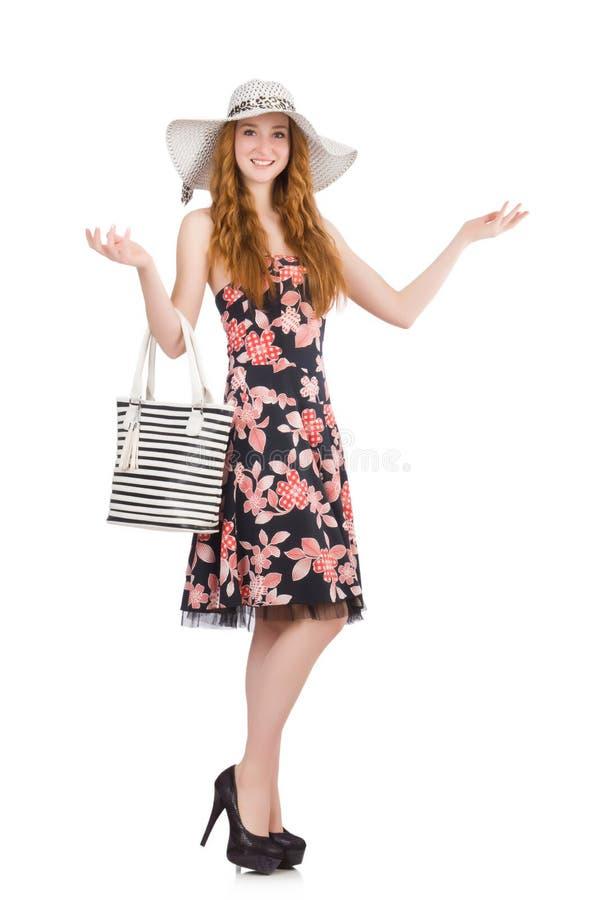 有袋子的妇女 免版税库存图片