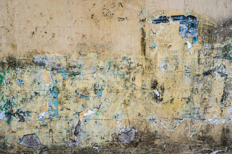 有被剥皮的油漆层数的织地不很细墙壁  免版税图库摄影