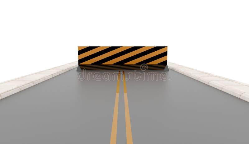 有被回报的路障碍的路 库存例证