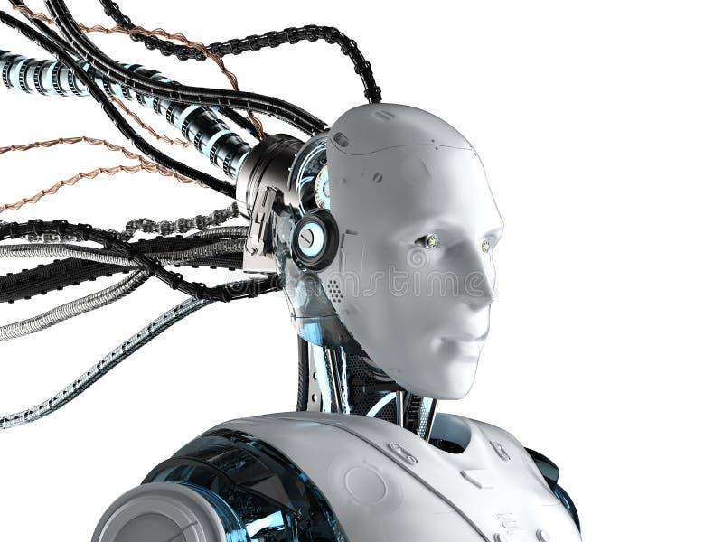 有被隔绝的导线的机器人 皇族释放例证