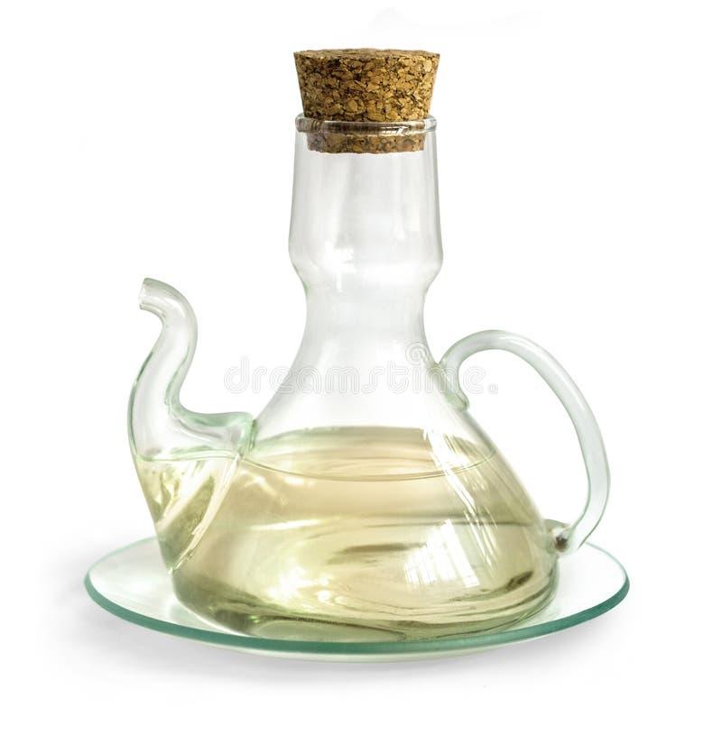 有被隔绝的醋的蒸馏瓶 库存图片