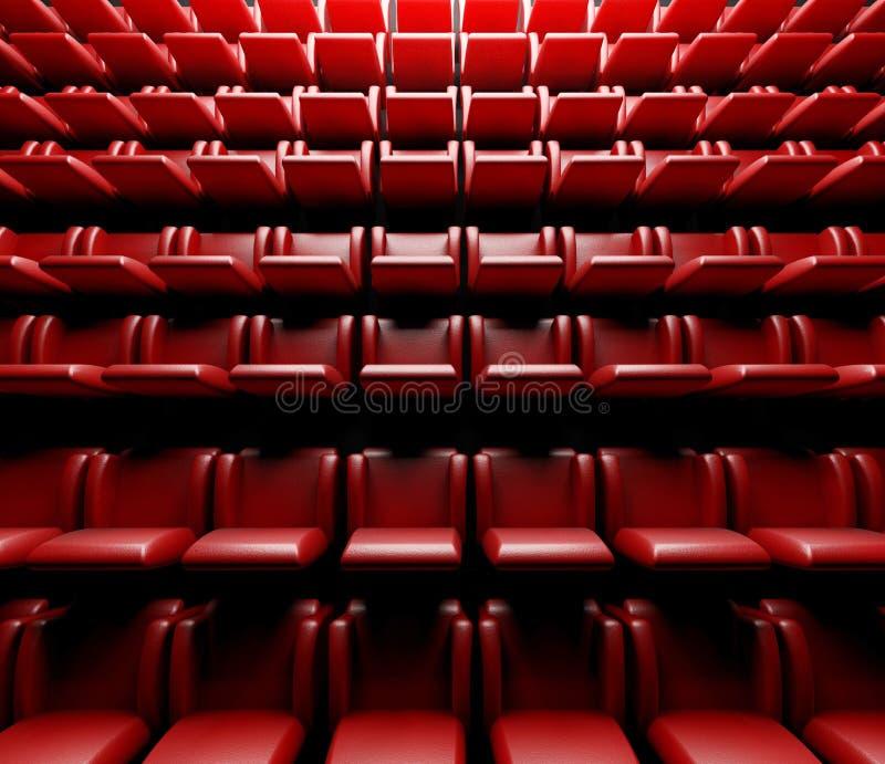有观众席的空的戏院大厅 向量例证