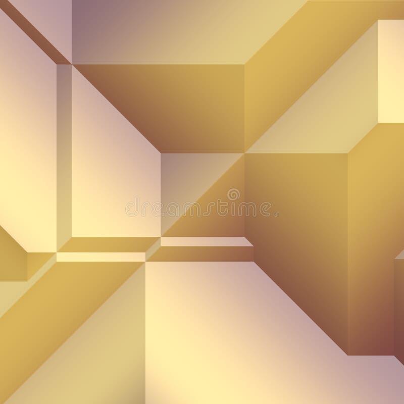 有角几何形状 库存例证