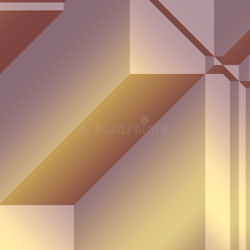 有角几何形状 皇族释放例证
