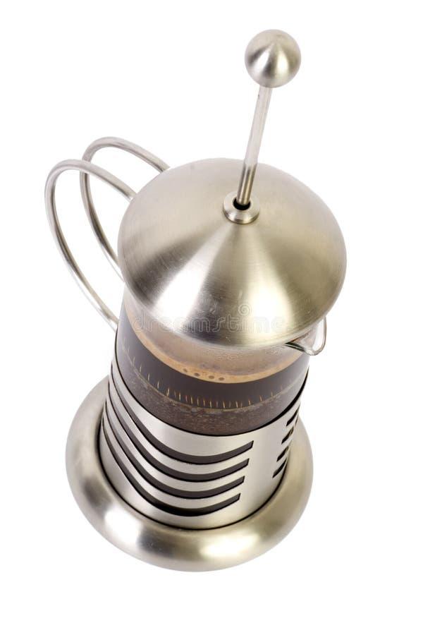 有角度的咖啡法语新闻 库存照片