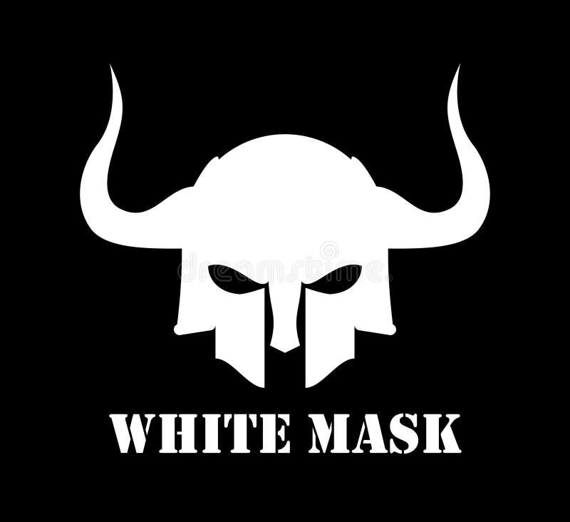 有角的白色面具 皇族释放例证