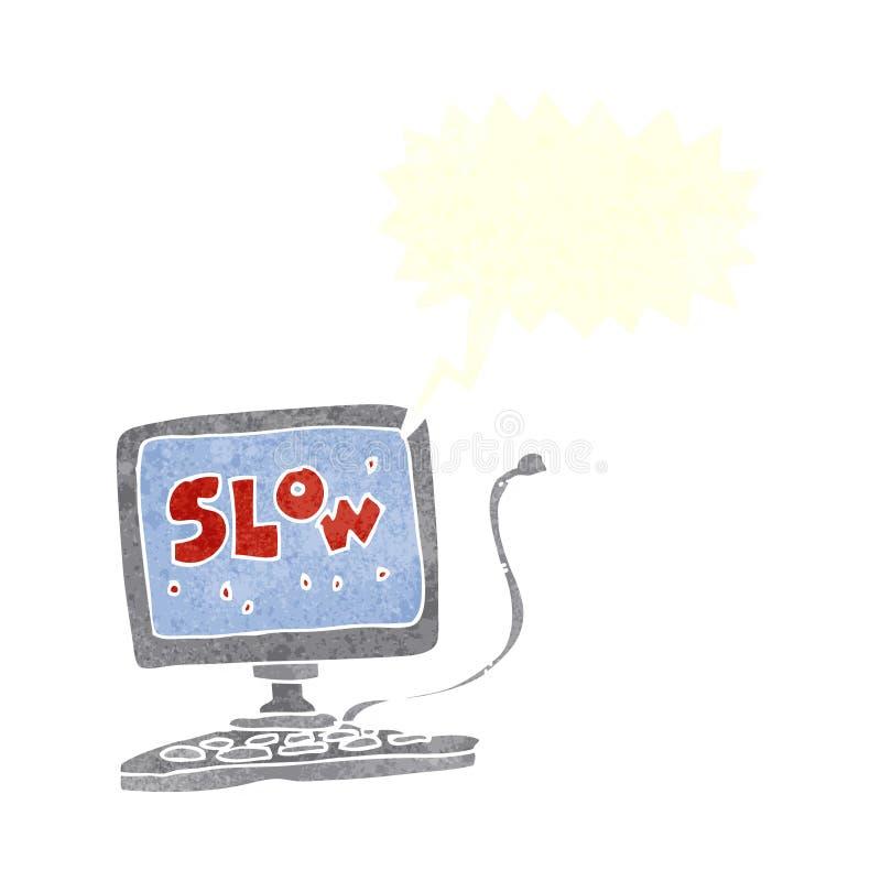 有讲话泡影的动画片慢计算机 向量例证