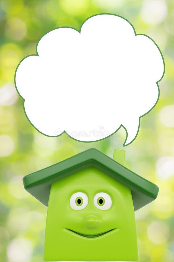 Eco绿色动画片房子 免版税图库摄影