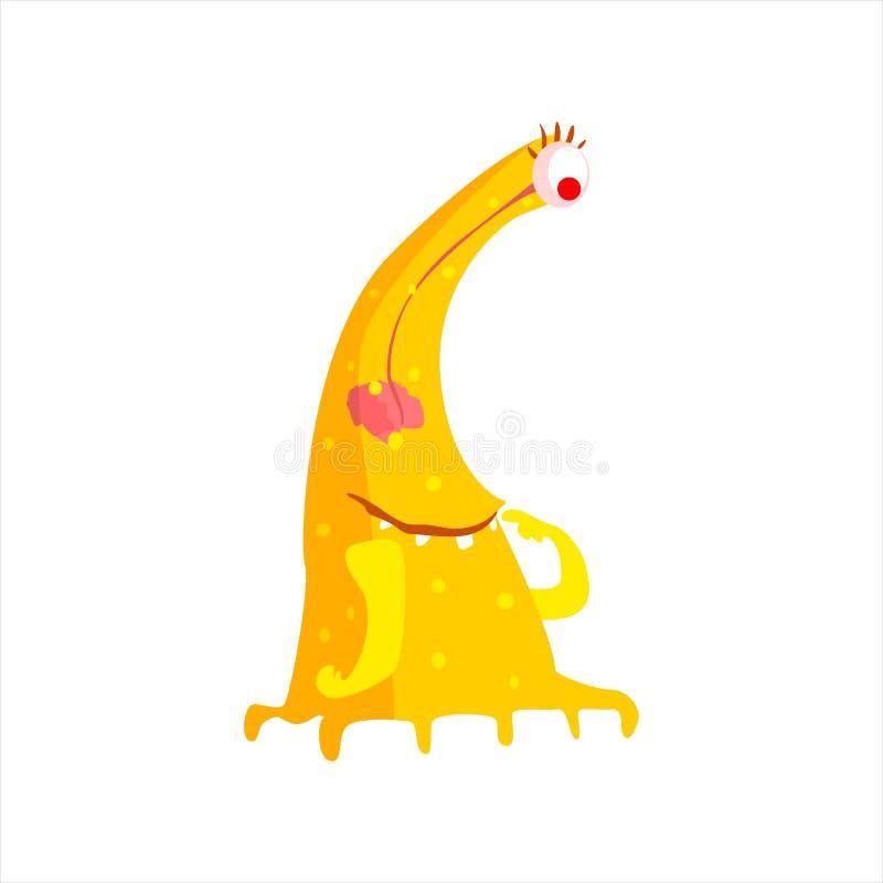 有许多腿的黄色幼稚妖怪 皇族释放例证