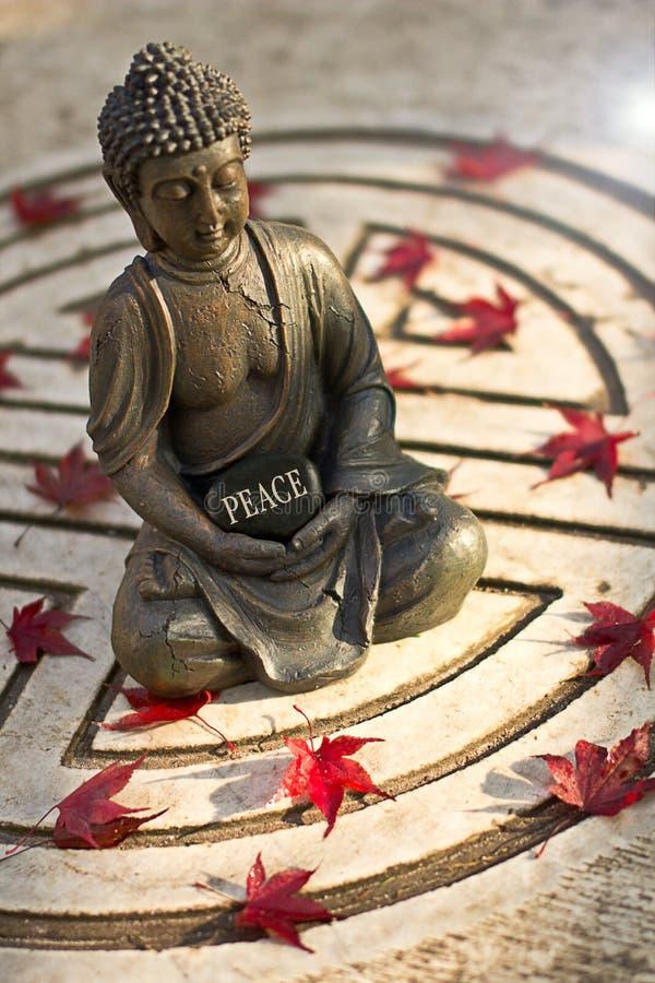 有词和平的菩萨 库存照片