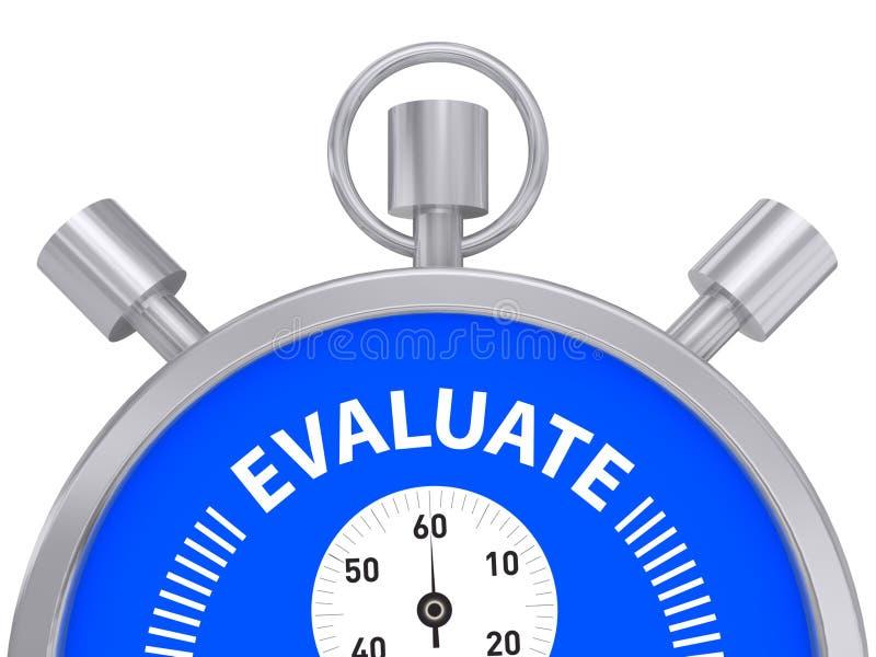 有词的金属秒表评估 库存例证